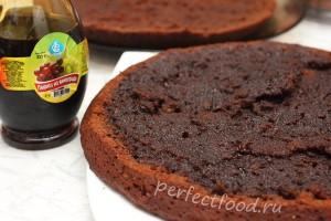 Шоколадный бисквит с пропиткой
