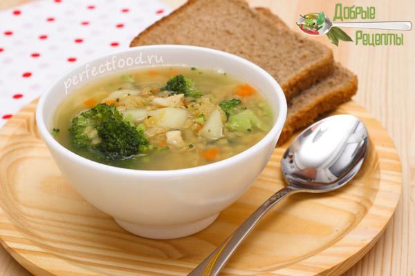 Суп из чечевицы и брокколи для детей
