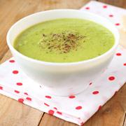 Постный суп-пюре из зелёного горошка с кокосовым молоком