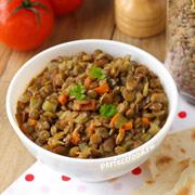 Тушёная чечевица с овощами — рецепт с фото