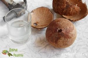 Как открыть кокос - видео и фото