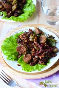 Вкусная брюссельская капуста, запечённая в духовке с орехами - как приготовить