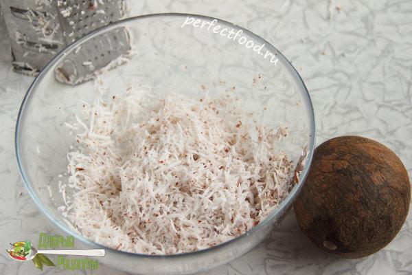 Кокосовая стружка-жмых для торта