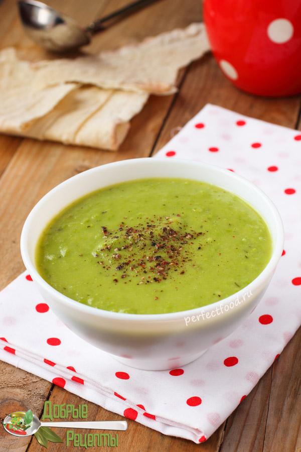 Постный суп-пюре из зелёного горошка - рецепт с фото и видео