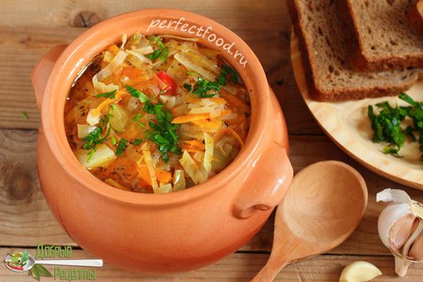 Постные щи из свежей капусты - рецепт