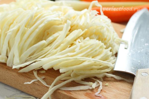 свежая белокочанная капуста для салата