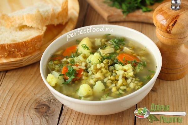 Суп из маша и риса - рецепт