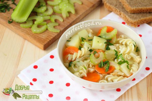 Суп из сельдерея - рецепт с фото