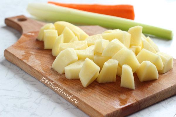 кусочки картошки для супа