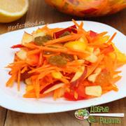 Салат из моркови и яблок — рецепт с фото