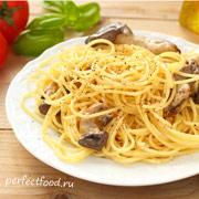 Спагетти с грибами-вёшенками