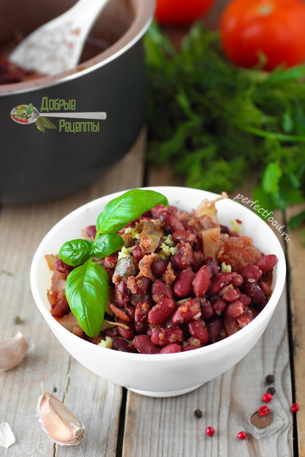 Красная фасоль по-грузински острая - рецепт