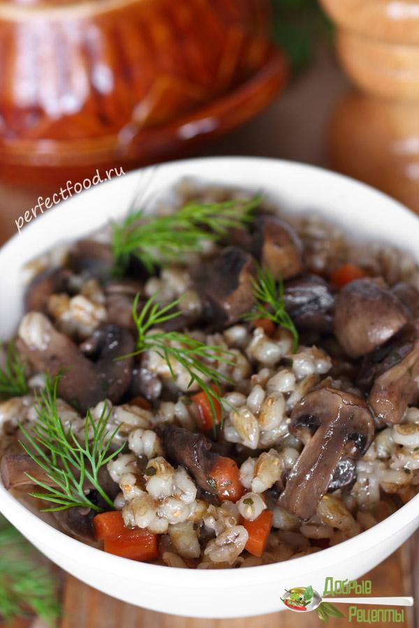 Перловая каша с грибами - рецепт с фото и видео