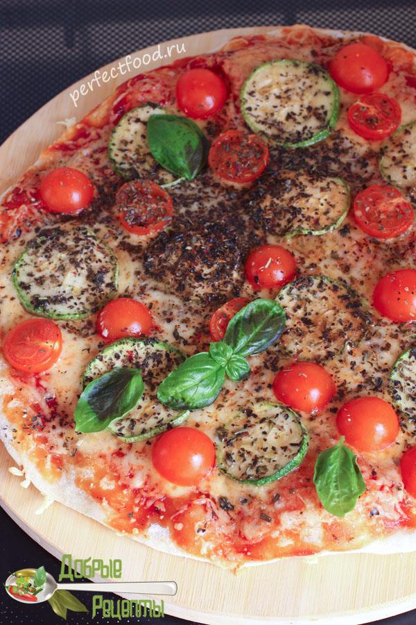 Тонкая пицца с овощами - рецепт
