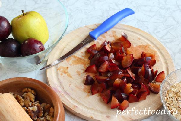 Как приготовить фруктовый крамбл с овсяными хлопьями 1