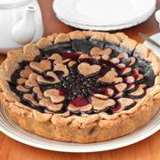 Постный пирог с черникой — рецепт с фото и видео