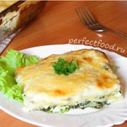 Лазанья с сыром фета и шпинатом — видео-рецепт + фото