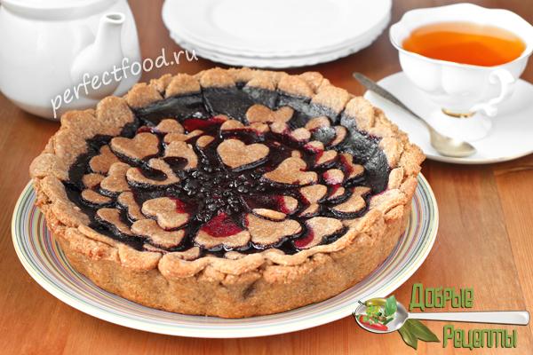 Постный пирог с черникой - рецепт с фото и видео