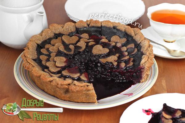Черничный пирог - рецепт с фото и видео