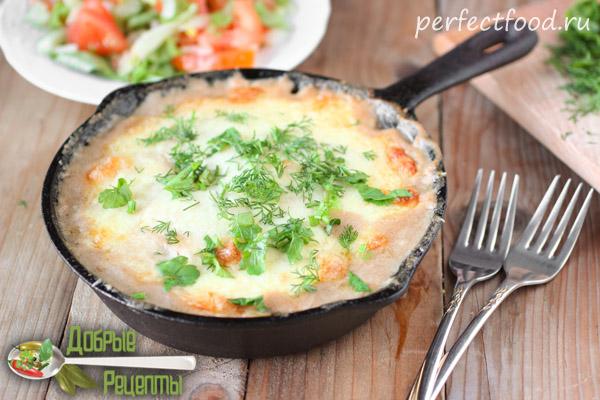 Картофельный гратен с грибами - фото