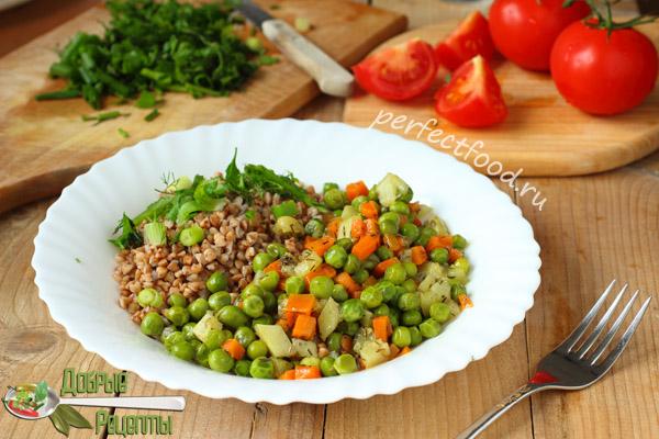 Овощное рагу с зелёным горошком - рецепт с фото