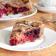 Постный пирог со смородиной и яблоками. Рецепт с фото и видео