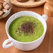 Зелёный суп-пюре с горошком. Рецепт с фото