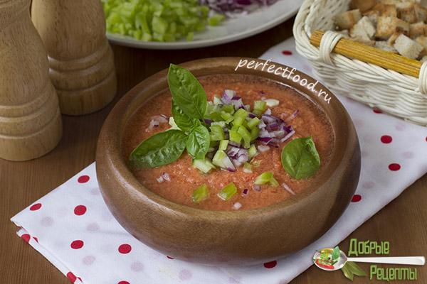 Рецепт гаспачо из помидоров