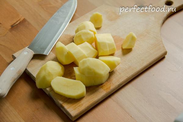 нарезанный картофель для супа-пюре