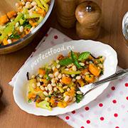 Салат из тыквы с фасолью — рецепт с фото и видео