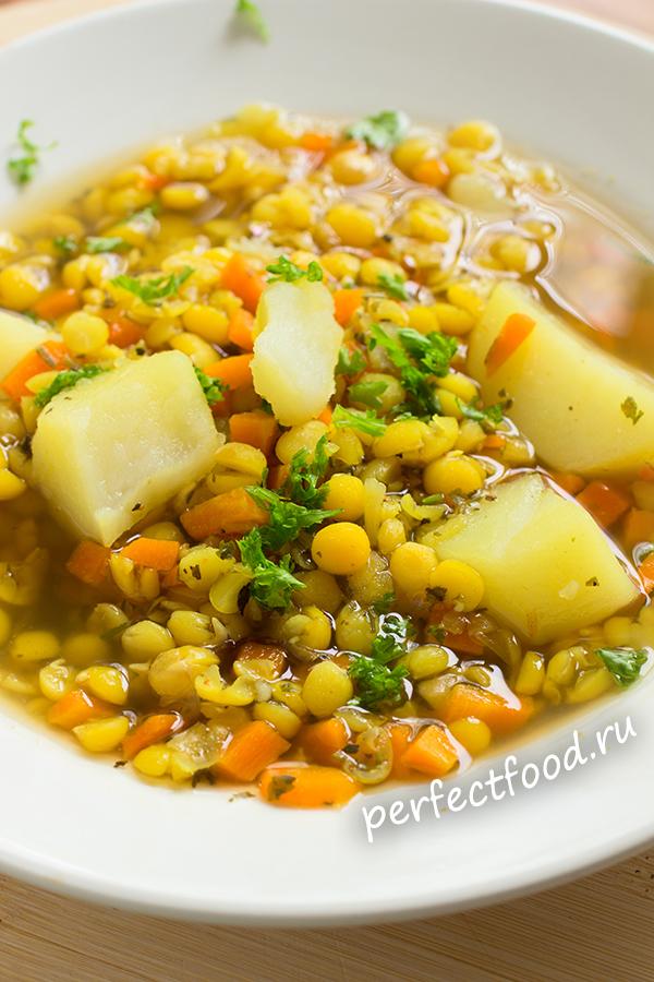 Постный гороховый суп - рецепт с фото и видео