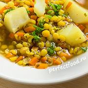 Постный гороховый суп — рецепт с фото и видео