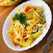 Салат из сырой тыквы и кабачка — рецепт с фото