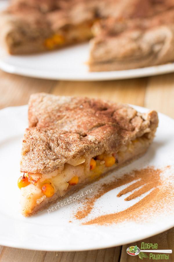 Постный пирог с облепихой - рецепт с фото