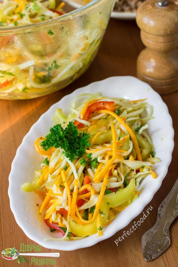 Полезный салат из сырой тыквы и кабачка - рецепт