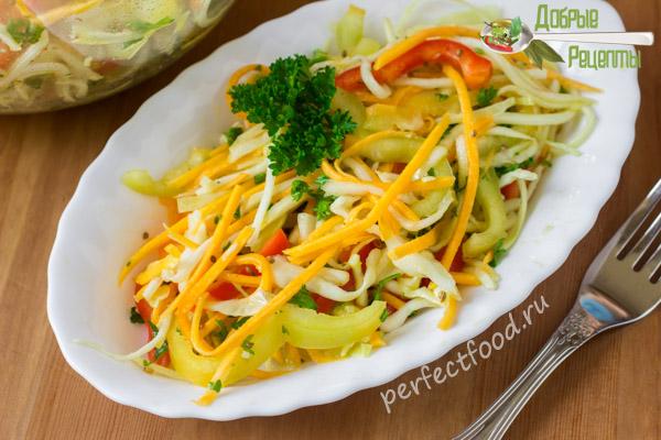 Осенний салат из тыквы и кабачков - рецепт с фото