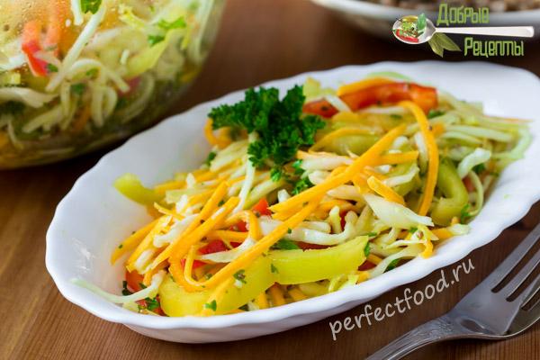 Фото салата из тыквы и кабачков