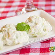 Болгарский салат «Снежанка» с огурцами