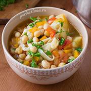 Суп из нута и овощей с лапшой — рецепт с фото и видео