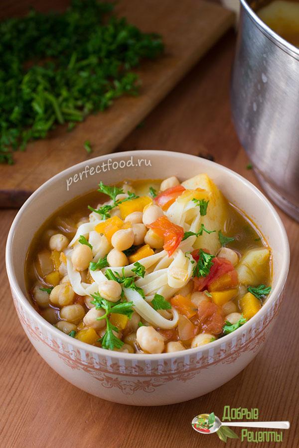 Суп из нута вегетарианский - рецепт с фото и видео