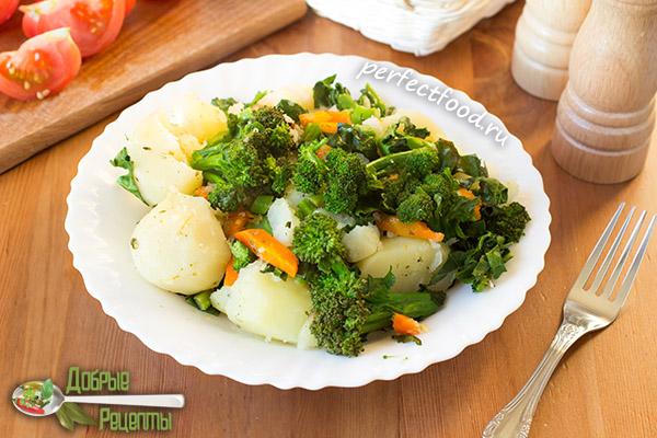 Тушёная картошка - рецепт с фото