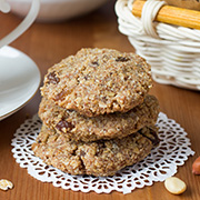 Веганское овсяное печенье с арахисом — рецепт с фото и видео