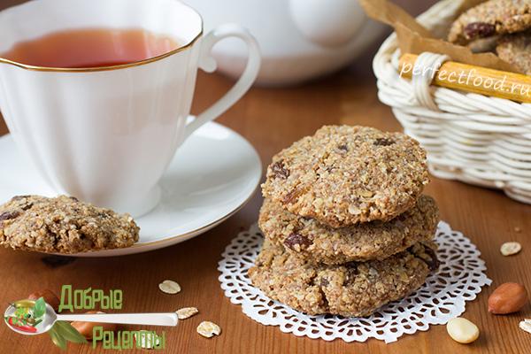 Овсяное печенье с арахисом - рецепт с фото и видео