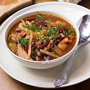 Постный борщ с фасолью — рецепт с фото и видео
