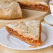 Капустный пирог без яиц на творожном тесте — рецепт с фото и видео