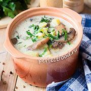 Вегетарианский картофельный суп с грибами — рецепт с фото и видео