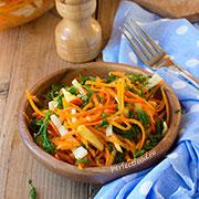 Свежий салат из тыквы — рецепт с фото и видео