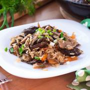 Бурый рис с диким рисом и грибами — рецепт с фото и видео