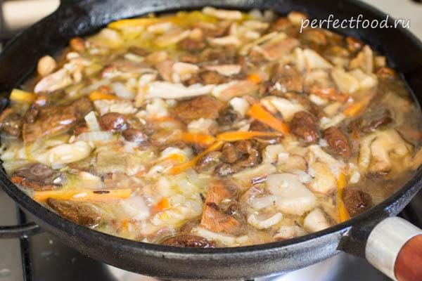 Рис с грибами - пошаговые фото