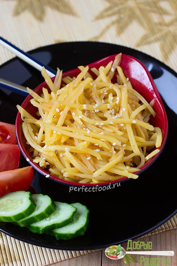 Картошка по-китайски - рецепт с фото и видео